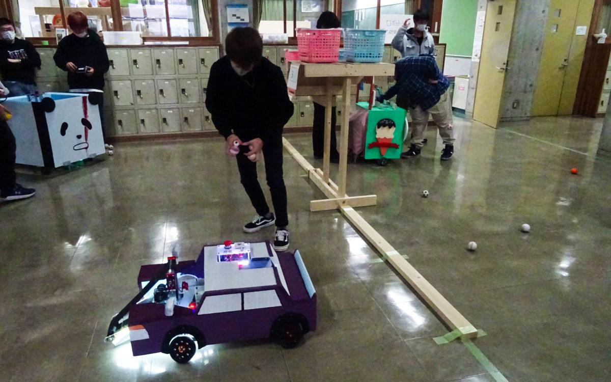 ミニ校内ロボコンが開催されました。