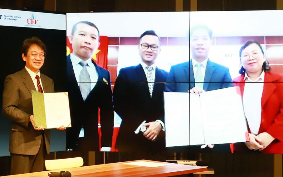 国際高等専門学校・金沢工業大学とホーチミン市工業大学・越日工業大学の4者で協力関係に関する覚書を締結。多様な学びと連携に向け。
