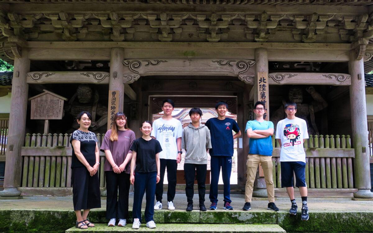 Third year students' Zen meditation experience at Yokoji temple